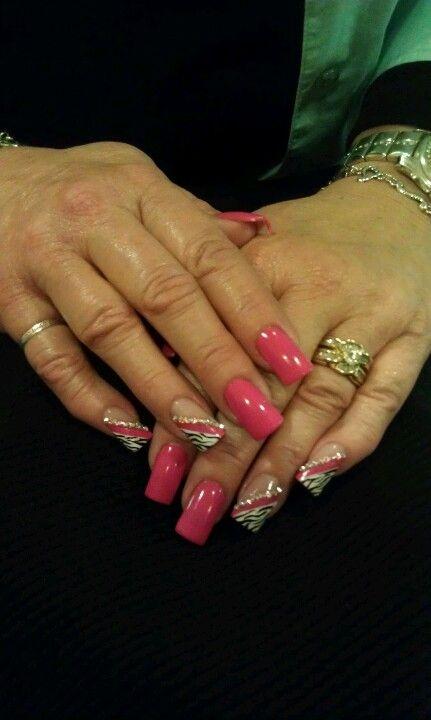 Pink Zebra Nails!