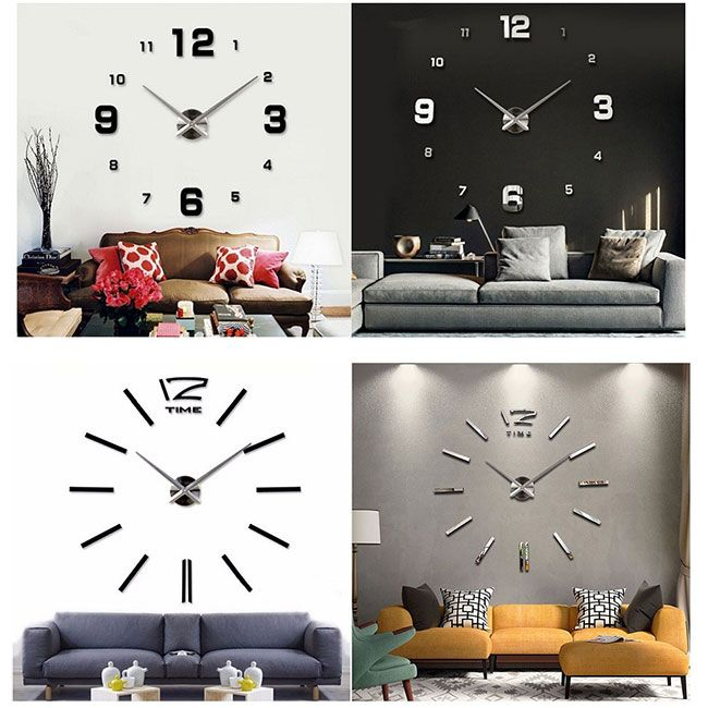 Большие настенные часы-наклейки