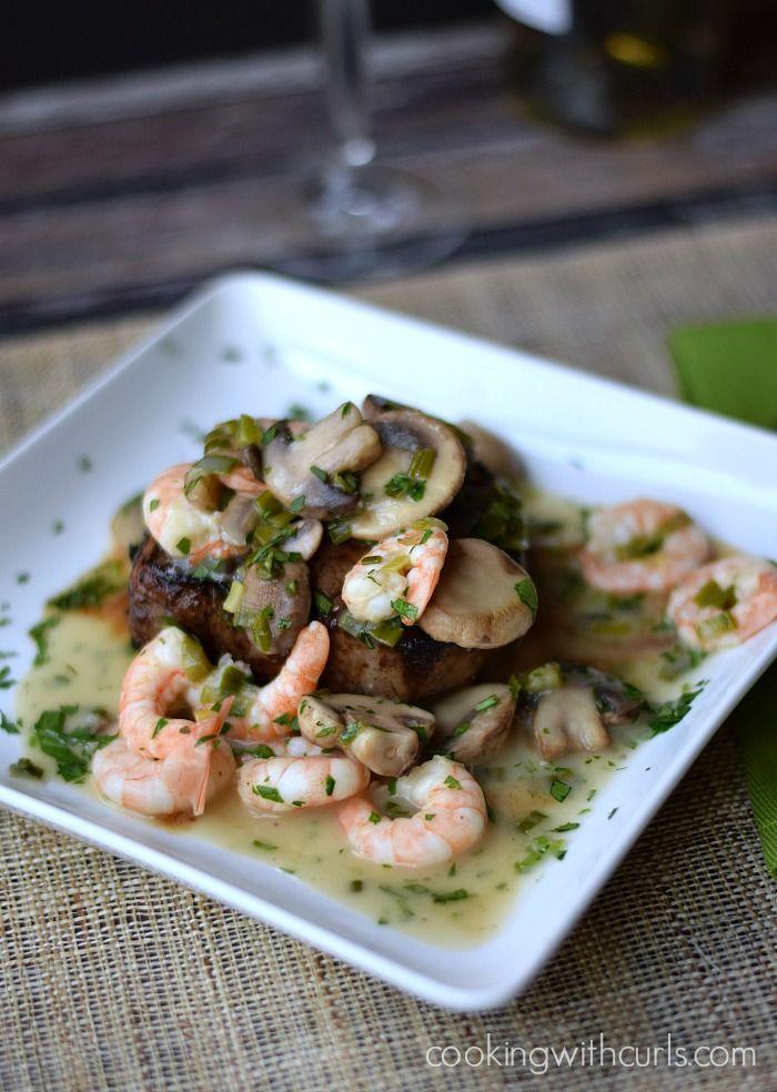 Beef Tenderloin with Shrimp and Mushroom Sauce