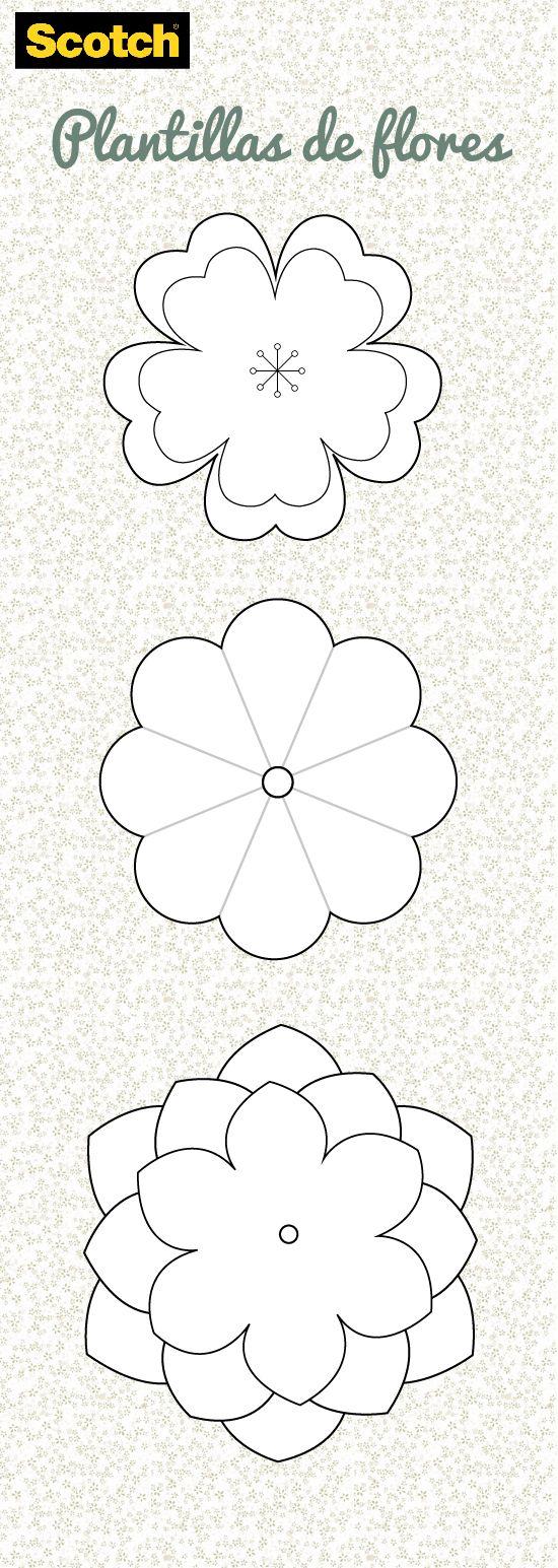 Ideas, Manualidades y Scrapbook: Plantilla: Flor | Scotch® Venezuela