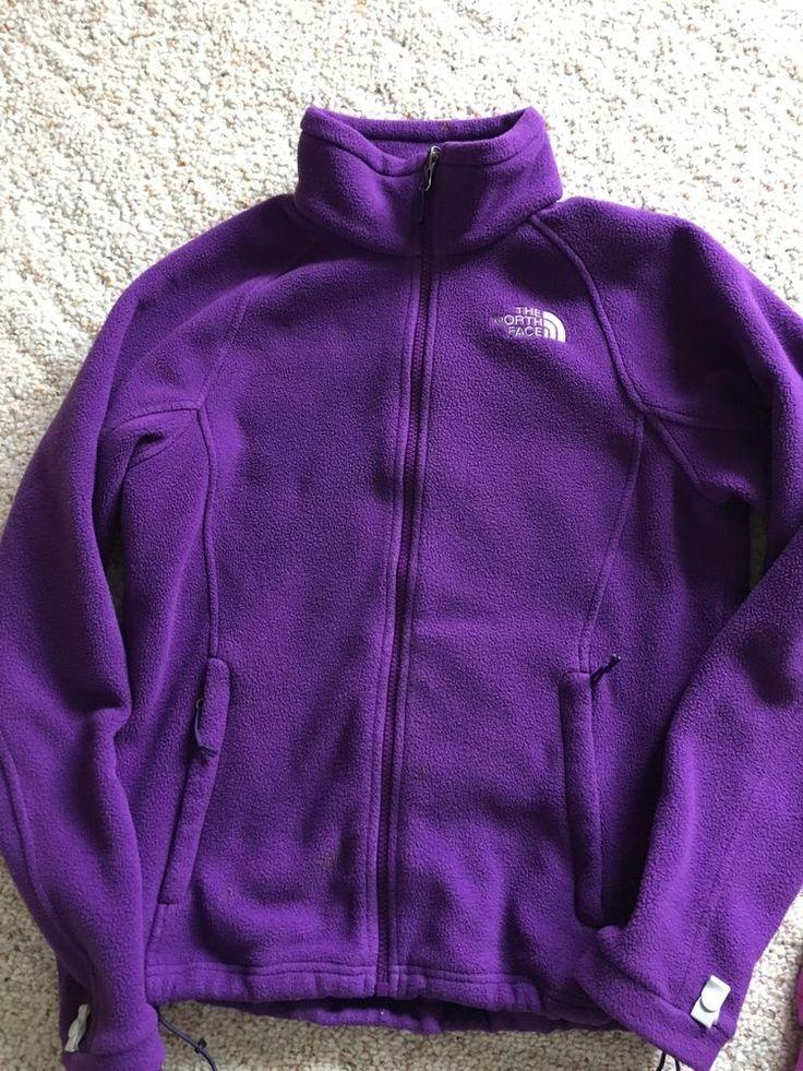 North Face women's small  Purple Fleece zip up jacket, Warm!  | eBay