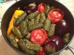 kurdish food dolma, the absolute one of the best! stuffed veggies!