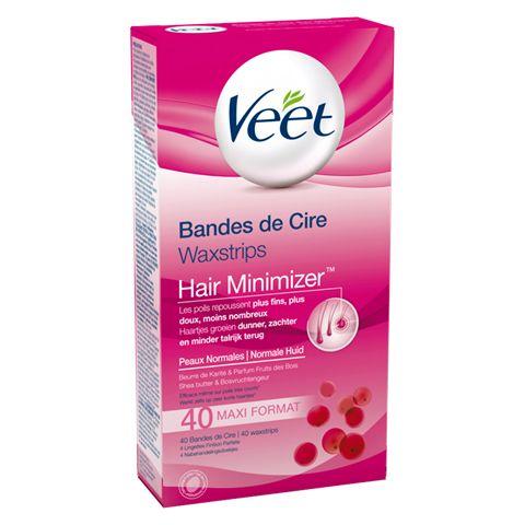 Veet Bandes de Cire Froide Hair Minimizer™ - Peaux Normales