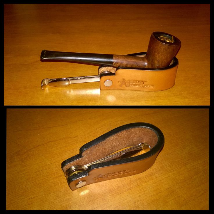 Handmade pipe holder with stamper tool by Bugsy Handicrafts