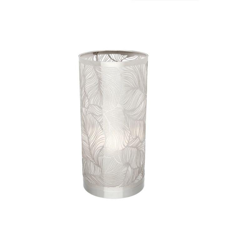 Thalia Touch Table Lamp Laser Cut Chrome Shade Mercator A45111, $89.00
