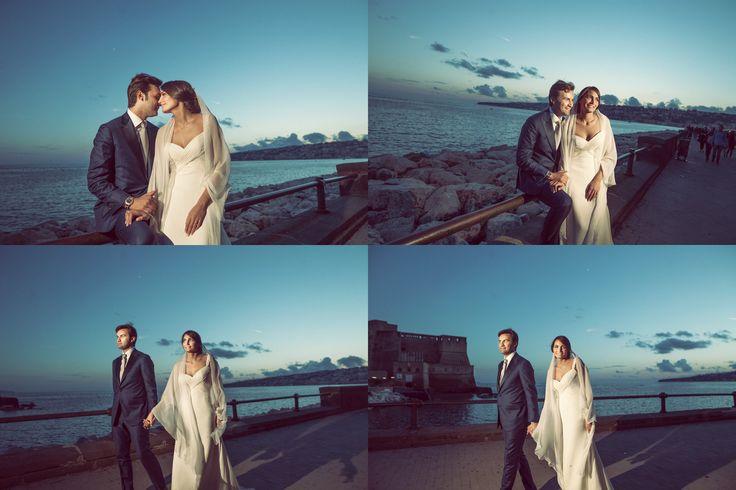 Wedding, matrimonio, married, sposi,lungomare Napoli, nozze
