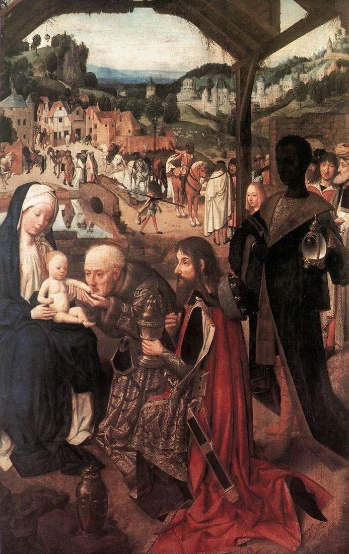 Geertgen tot Sint Jans (1460/1465 – до 1495) Триптих«Поклонение волхвов» в Праге. центральная часть