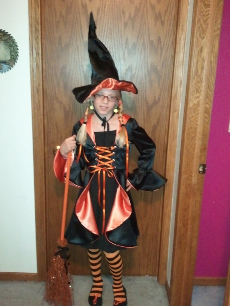 Orange and Black witchHalloween Costumes, Black Witches
