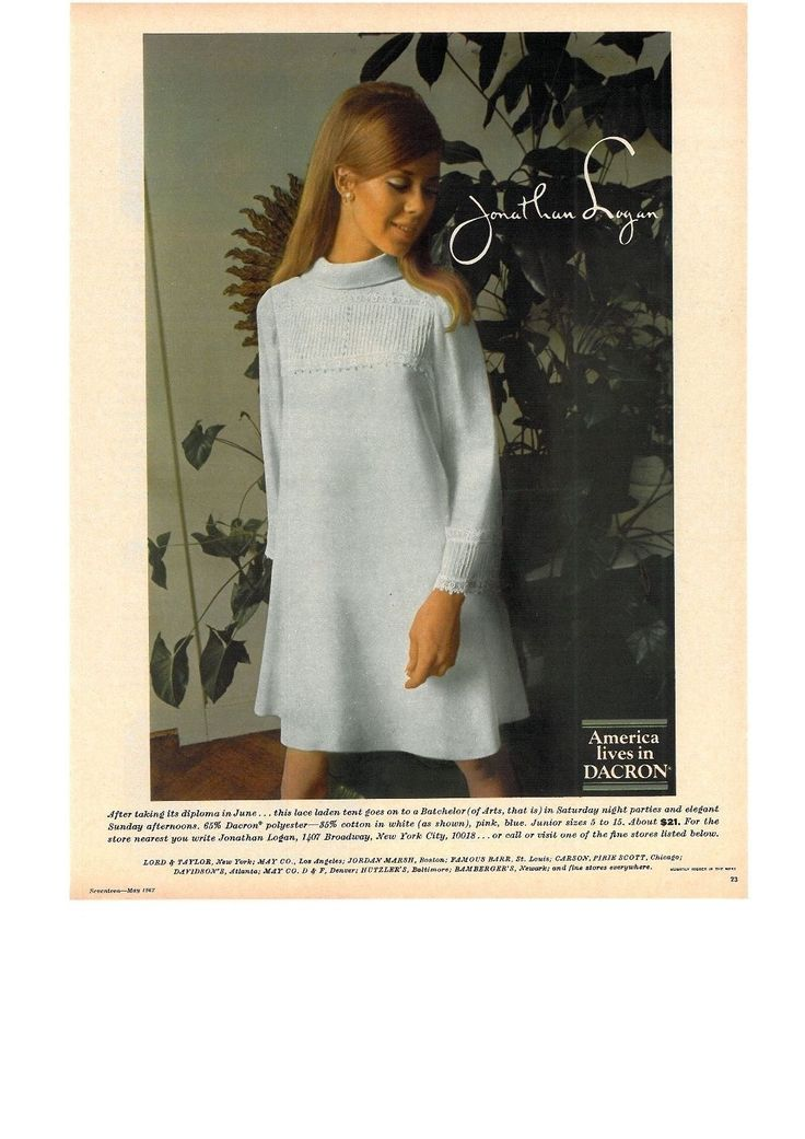 1967 Jonathan Logan Seventeen magazine advert