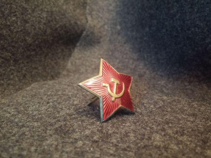 Military RUSSIAN SOVIET USSR MVD KGB SECRET RED STAR BADGE HAT CAP Officer Sale