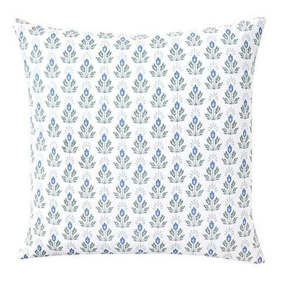20x20 Caitlin Wilson Blue Lotus Pillow Cover Designer Throw Etsy Designer Throw Pillows Pillows Green Pillows Decorative