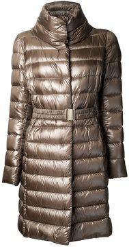 Herno high collar puffer coat