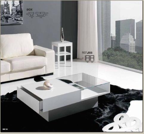 Mesa de centro box rectangular mesas de centro - Mesas salon modernas ...