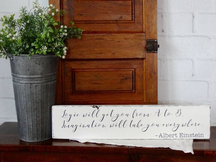 Albert Einstein Quote Wood Sign, Rustic Wood Sign, Farmhouse Decor, Quotes/Sayings on Wood Sign, Quotes by Einstein, Distressed Wood Sign by TheHandmadeFarm on Etsy (scheduled via http://www.tailwindapp.com?utm_source=pinterest&utm_medium=twpin&utm_content=post159225357&utm_campaign=scheduler_attribution)