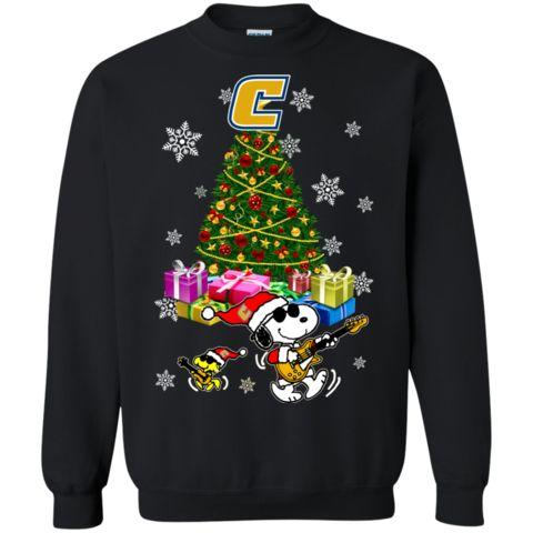 Chattanooga Mocs Ugly Christmas Sweaters Merry Christmas Snoopy Hoodies Sweatshirts