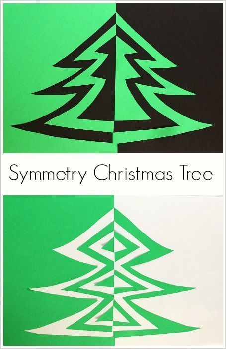 Symmetry Christmas Tree Art Project for Kids: Fun way to combine art and math! ~ http://BuggyandBuddy.com