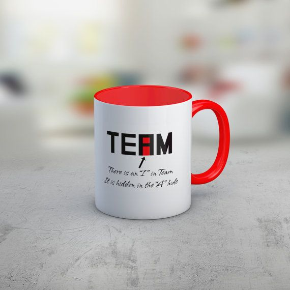 Funny coffee mug, Office humor mug, There is an I in team t-shirt, Unique coffee mug, cool coffee mug, Coworker gift idea, Gift for Boss  Are you looking for a funny coffee mug? Perhaps a gift idea for a coworker? This is certainly a unique coffee mug!  There is an I in team, it is hidden in the A Hole Who hasnt heard the expression There is no I in team unfortunately that saying doesnt work anymore!  Love the design, but looking for a different product? Please see our t-shirt here…