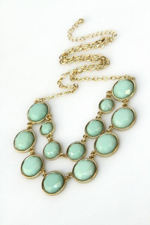 circle tier bib necklace $18