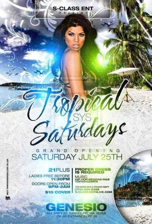 Tropical Saturdays Flyer by Zelery65