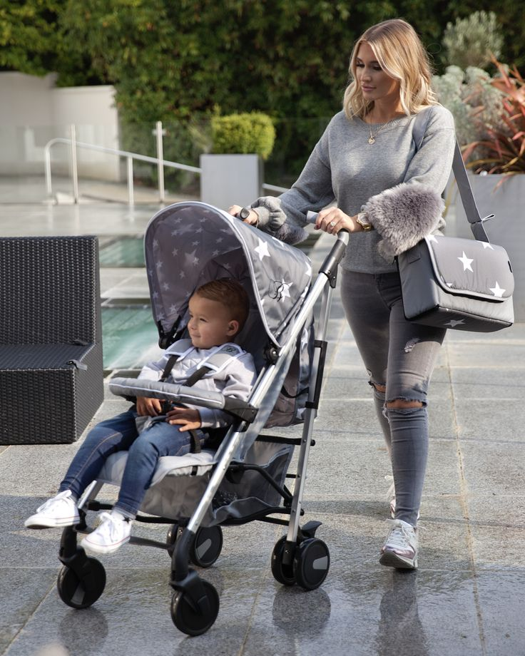 Meet the Billie Faiers My Babiie MB51 Grey Stars - ultra-loaded with exceptional handling, these lightweight aluminium buggies that are super manoeuvrable. Fully equipped with lockable and swivelling single front wheels and a handy shopping basket, the MB51 stroller is ideal for any trip out with your little one from birth (with its full recline). In case we hadn't put enough features on it there is a the luxury padded adjustable leg rest.