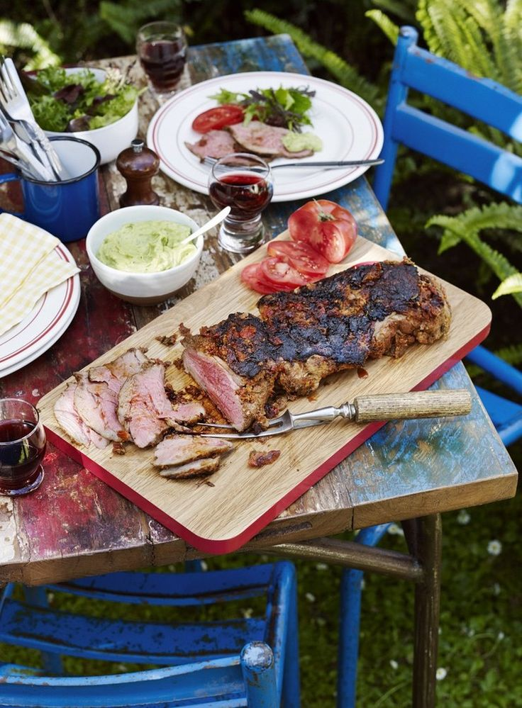 Butterflying the meat gives you lamb with degrees of 'doneness': rare where the meat is thicker and medium to well done in the thinner areas. Ditch traditional mint sauce and serve silky smooth mint guacamole for a fresh accompaniment.