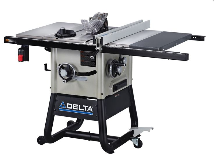 Delta table saw with cast-iron wings