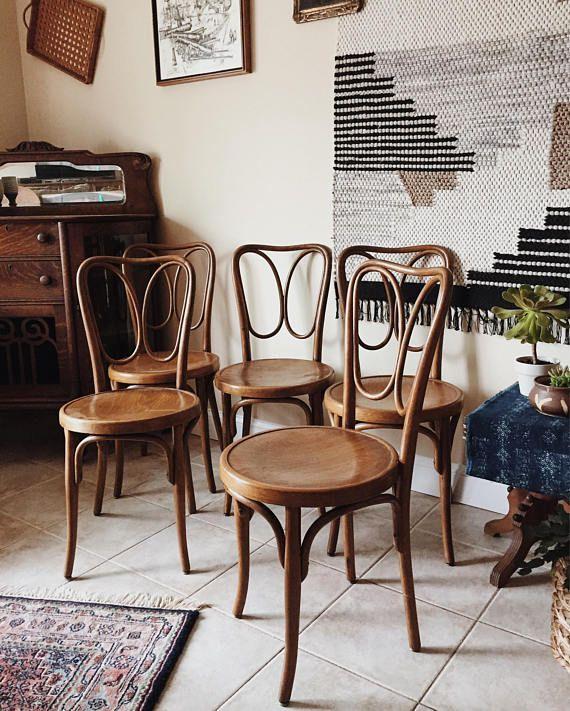 Jacob U0026 Josef Kohn Bentwood Chairs, Antique Wooden Dining Chairs, Kitchen  Chairs, Bentwood Chair, Authentic Bentwood Very Rare U0026 Gorgeous Set Of 5  Bentwood ...