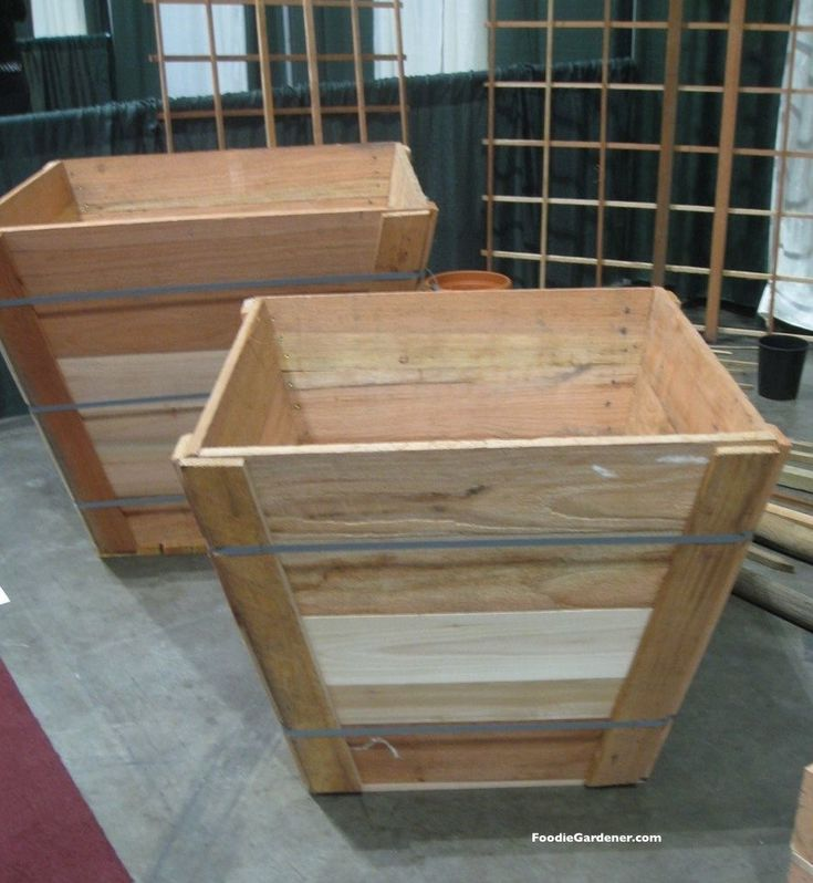 33 Best Images About Wood Planter Tree Box On Pinterest: 17 Best Ideas About Vegetable Planters On Pinterest