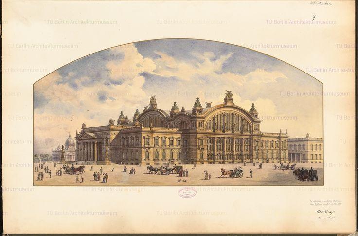 Perspektivische Ansicht, Inschrift: Menken Regierungs-Bauführer., and Aufbewahrung/Standort: