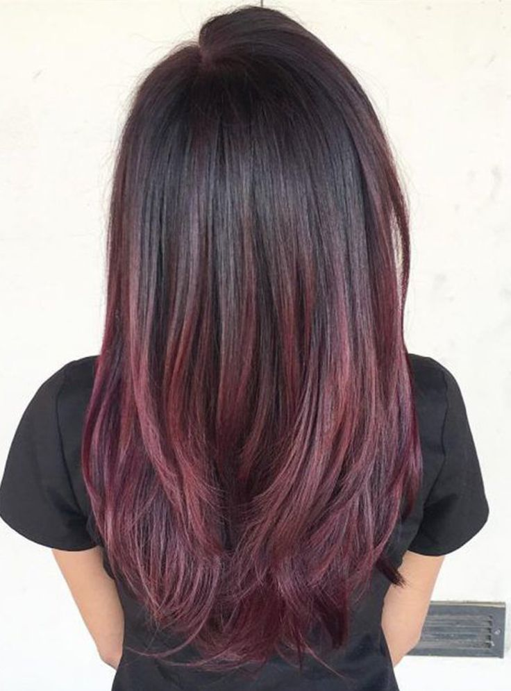 50 Ombre Hairstyles for Women - Ombre Hair Color Ideas 2019 | Hair | Red balayage hair, Ombre hair color, Red violet hair