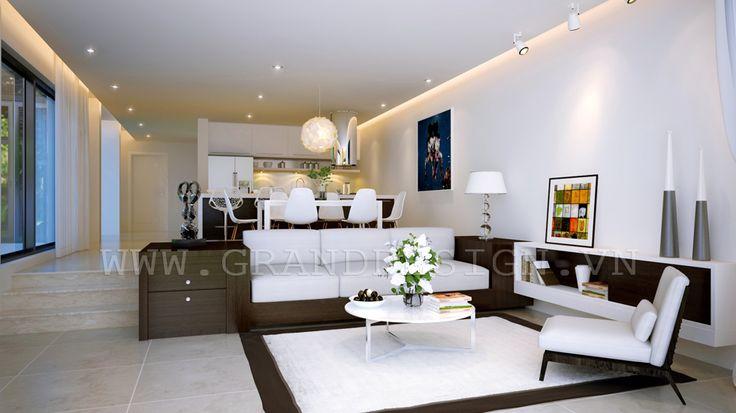 vietnamese interior by grand design architechure interiors open plan apartment beautiful. Black Bedroom Furniture Sets. Home Design Ideas