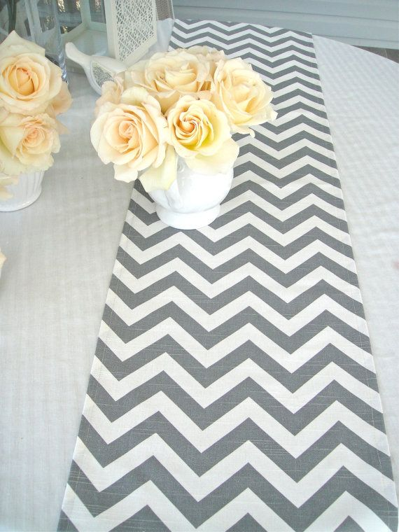 Superior CHEVRON Table Runner 13x72 Wedding Table By Simplydivinebyjoann