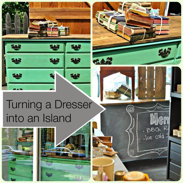Turn A Dresser Into A Kitchen Island: 1000+ Ideas About Dresser Island On Pinterest