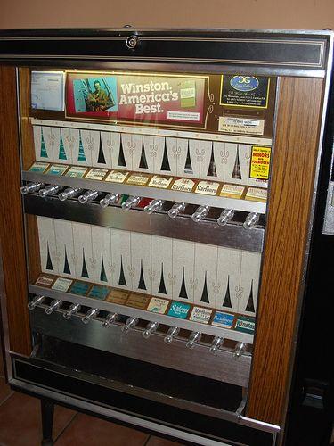 cigarette machine.