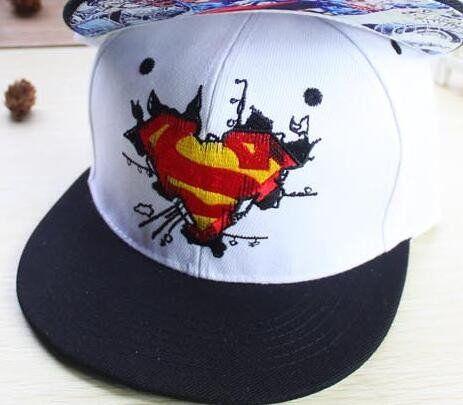 New Fashion Superman Snap back Snapback Caps Hat Super Man Adjustable Gorras  Hip Hop Casual Baseball 61cd7a209b8dd