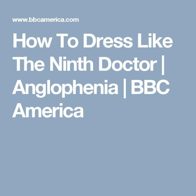 How To Dress Like The Ninth Doctor   Anglophenia   BBC America