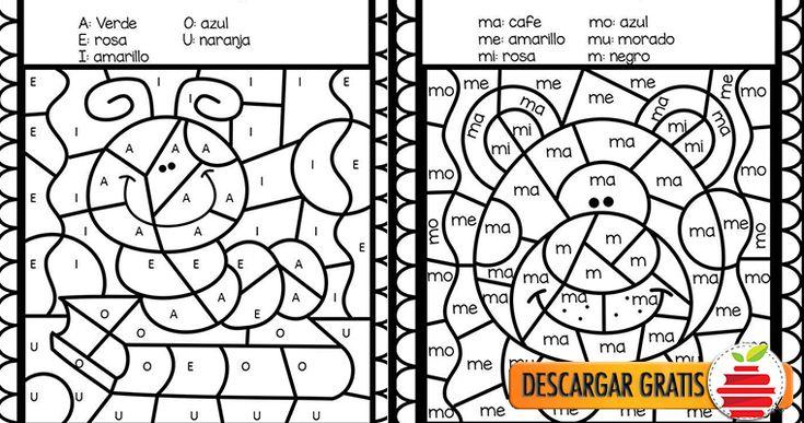 Silaba Dibujo: Colorea Y Descubre El Dibujo Con Las Sílabas