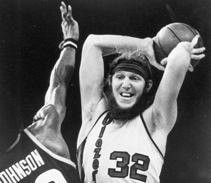 Bill Walton led the Portland Trailblazers to their only NBA championship in 1977.