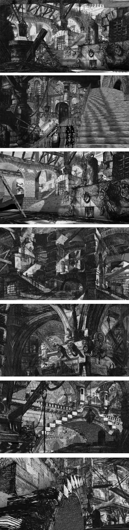 """""""La gravure aux mains de Vasi et de tant d'honnêtes manufacturiers d'estampes, n'était guère qu'un procédé économique et rapide de reproduction mécanique, par lequel l'excès de talent était plus dangereux qu'utile"""" (Marguerite Yourcenar, """"Le Cerveau noir de Piranèse"""" 1959 et 1961, in """"Sous bénéfice d'Inventaire"""", La Pléiade, 1991)."""