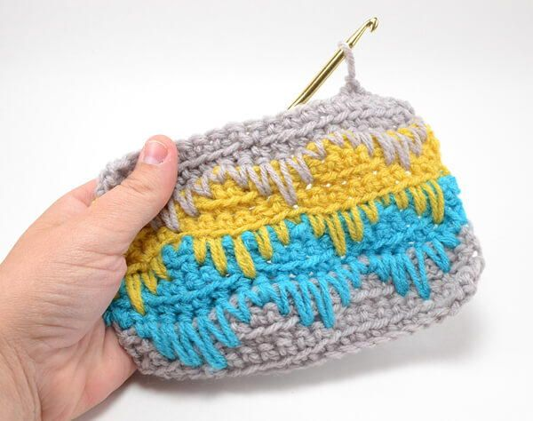 Spike Stitch Crochet Tutorial | If you're looking for a unique crochet stitch, try the SPIKE stitch. It's so cool!