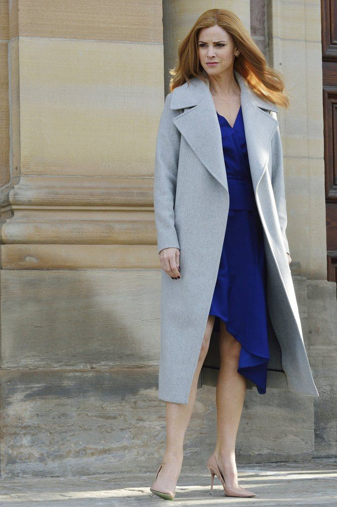 Pin for Later: The Verdict Is Clear: The Ladies on Suits Can Make Any Work Outfit Look Sexy Donna matches her coat to her dress
