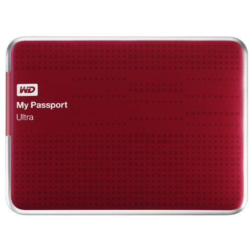 Black Friday 2014 WD My Passport Ultra 2TB Portable External USB 3.0 Hard Drive with Auto Backup - Red from Western Digital Cyber Monday