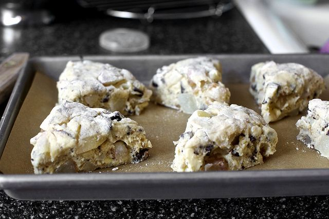 Roasted Pear and Chocolate Chunk Scones - I can do this!