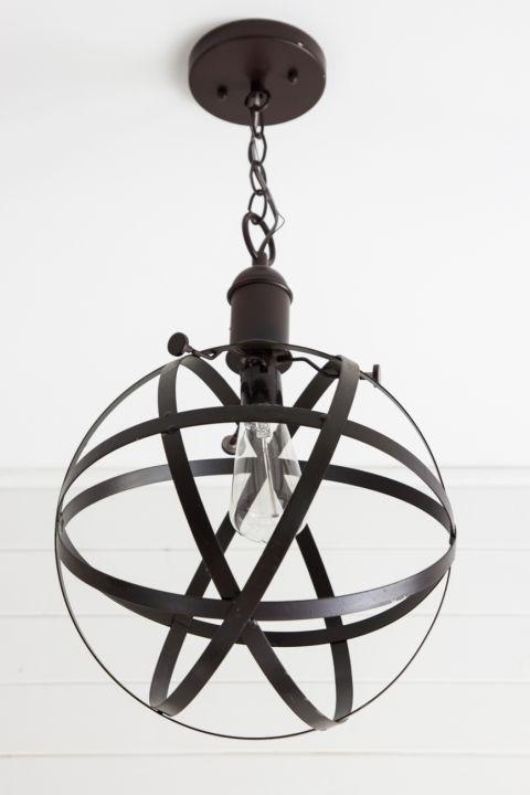 DIY Industrial Orb Pendant Light | blesserhouse.com