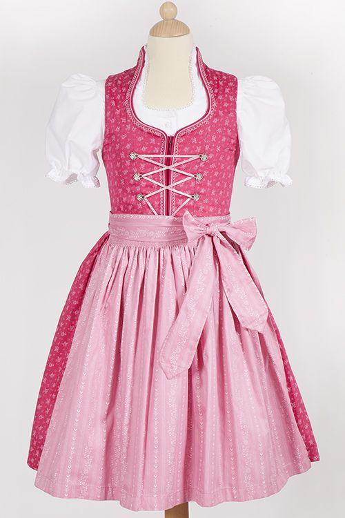 Kinder Dirndl Nicki in rosa und pink von Gamsbock