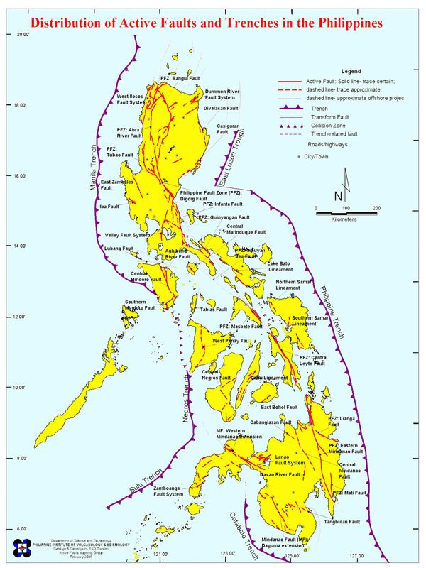 Active Fault And Trenches In The Philippines Phivolcs