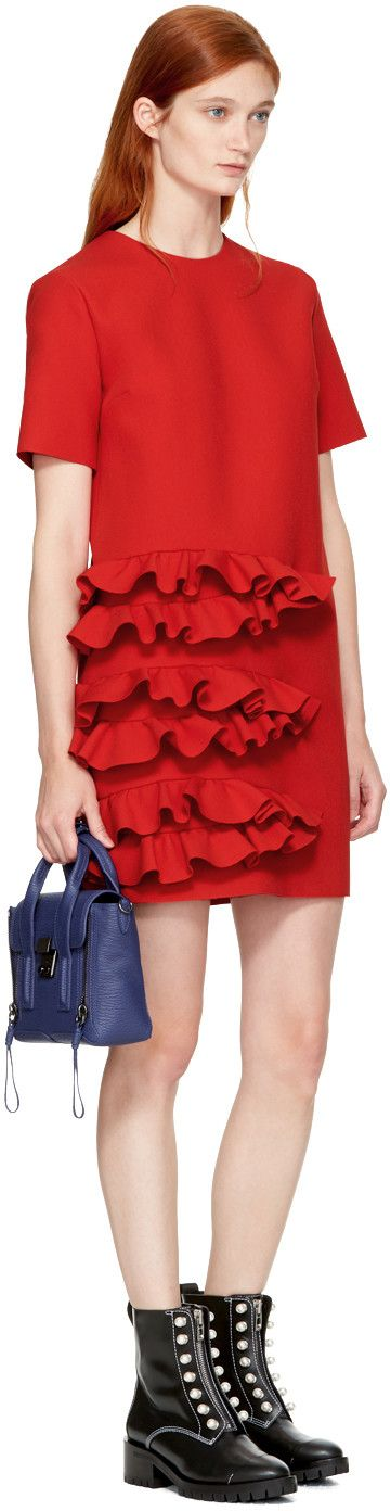 MSGM - Red Ruffle Dress