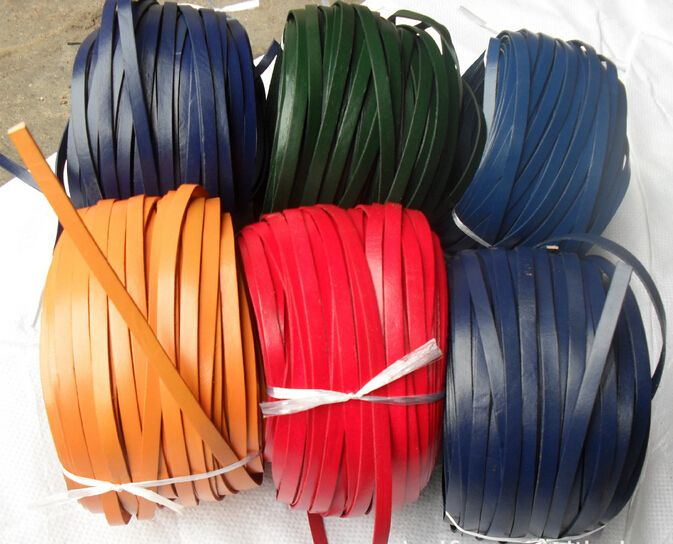5 meter/partij 8*2mm Lederen String Armbanden Platte Glad Lederen Koord Voor DIY Sieraden Maken Accessoires kwastje touw F2022B in 5meters/lot 6mm Round Braided Leather Cords With Multi colors Leather Cord Bracelet Necklace For DIY Jewelry Making F202 van sieraden bevindingen en componenten op AliExpress.com | Alibaba Groep