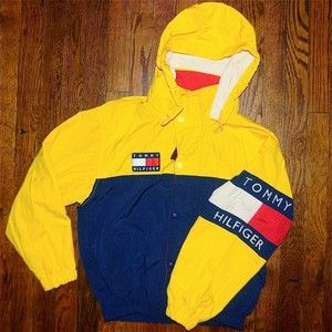 90's Tommy Hilfiger Jacket with Hood