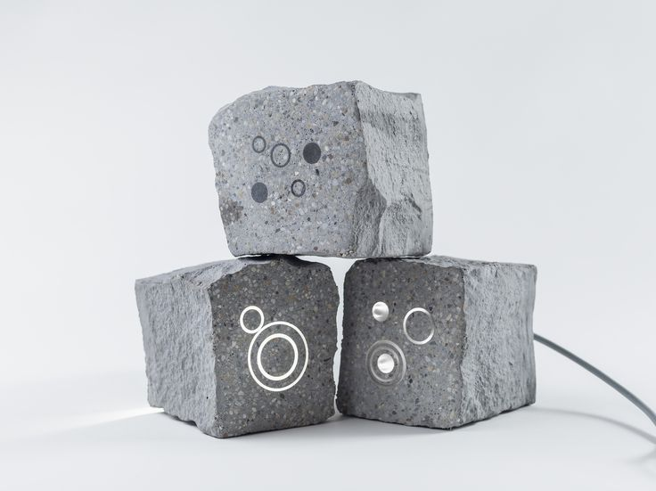 miniMUKI // the smallest family member made of concrete // lighting pavement element by S'39 Hybrid Design Manufacture